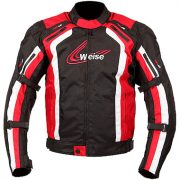 Weise Corsa Textile Motorcycle Jacket in Black and Red