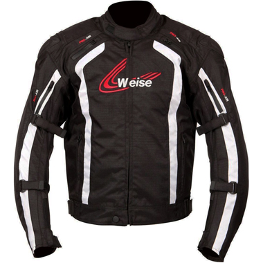 Weise Corsa Textile Motorcycle Jacket in Black and White