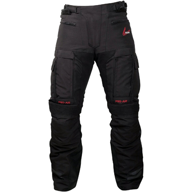 Weise Dakar Adventure Textile Motorcycle Trousers in Black