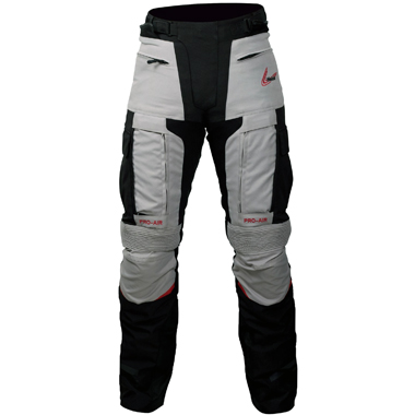 Weise Dakar Adventure Textile Motorcycle Trousers in Black and Stone