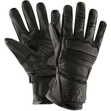 Belstaff Corgi Goatskin Motorcycle Gloves in Black