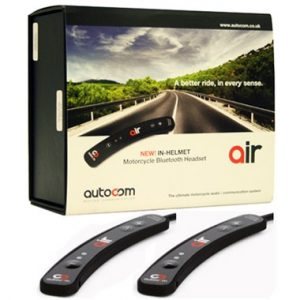 Autocom Air Bluetooth Intercom Headset Rider and Pillion