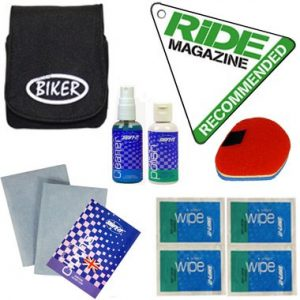 Branded Biker Ride Recommended Motorcycle Helmet Cleaning Kit