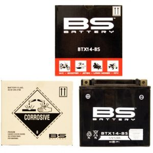 BS BTX14 BS MF Motorcycle Battery