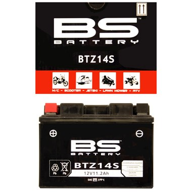 BS BTZ14S Motorcycle Battery