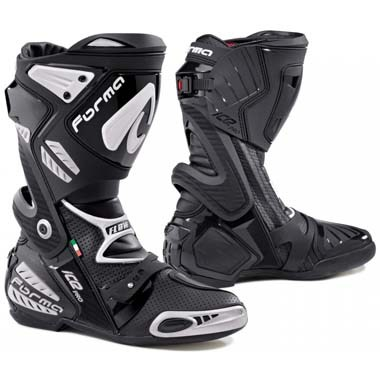 Forma Ice Pro Flow Motorcycle Racing Boots Black