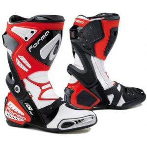 Forma Ice Pro Motorcycle Racing Boots Red White Black