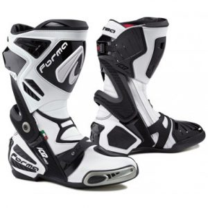 Forma Ice Pro Motorcycle Racing Boots White Black