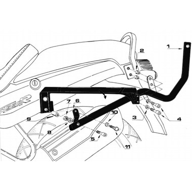 Givi 635F Rear Carrier Arms BMW R850R 1995 to 2002
