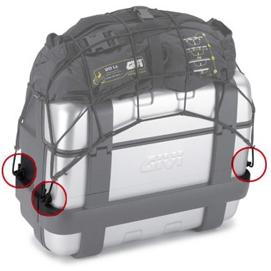 Givi E125 Luggage Rings for Givi Top Boxes and Cases