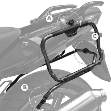 Givi PLXR174 V35 Pannier Holders Honda CBF1000 2006 to 2009