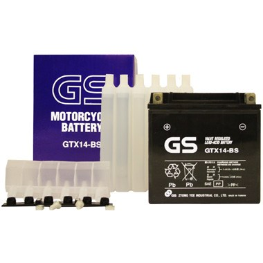 GS GTX14 BS MF Motorcycle Battery