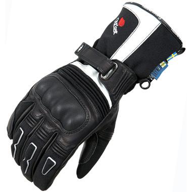Halvarssons Advance Motorcycle Gloves Black Ivory