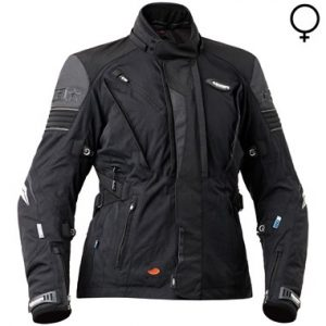 Halvarssons Electra Ladies Textile Motorcycle Jacket Black