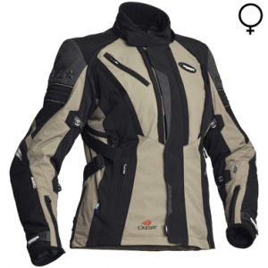 Halvarssons Electra Ladies Textile Motorcycle Jacket Black Army Green