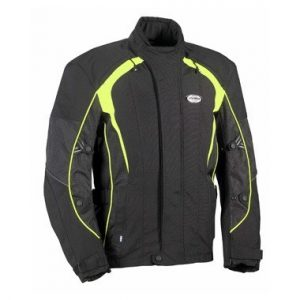 Jofama Tour Motorcycle Jacket Black and Yellow