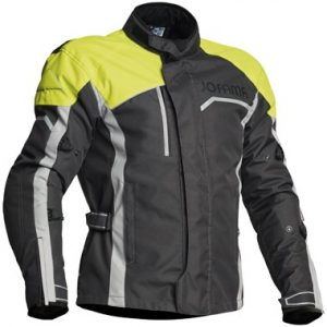 Jofama Voyage Textile Motorcycle Jacket Black Grey Yellow