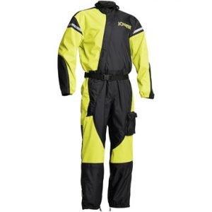 Jofama WP Suit Motorcycle Waterproof Rain Suit Black Yellow