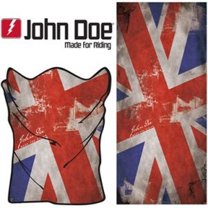 John Doe Motorcycle Neck Tube Tunnel Liverpool UK Flag