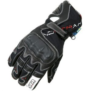 Lindstrands Flex Motorcycle Gloves Black White