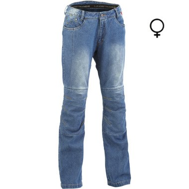 Lindstrands Wrap Lady Motorcycle Jeans Light Blue