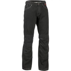 Lindstrands Wrap Motorcycle Jeans Black Short Leg