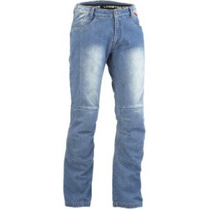 Lindstrands Wrap Motorcycle Jeans Light Blue Short Leg