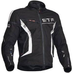 Lindstrands Zero Textile Motorcycle Jacket Black White