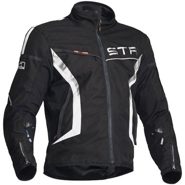 Lindstrands Zero Textile Motorcycle Jacket Black White