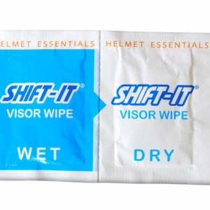 Shift-It Motorcycle Helmet Wet and Dry Visor Wipes