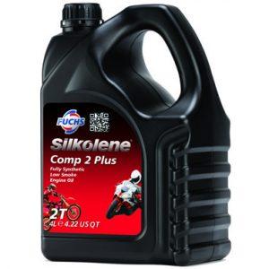 Silkolene Comp 2 Plus 2 Stroke Motorcycle Engine Oil 4L