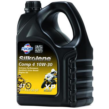 Silkolene Comp 4 10W 30 XP Motorcycle Engine Oil 4L
