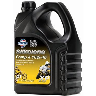 Silkolene Comp 4 10W 40 XP Motorcycle Engine Oil 4L