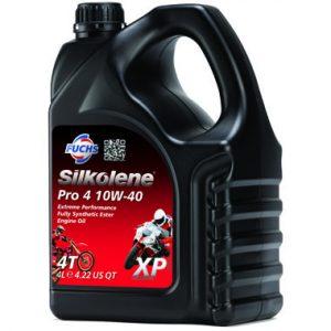 Silkolene Pro 4 10W 40 XP Motorcycle Racing Engine Oil 4L