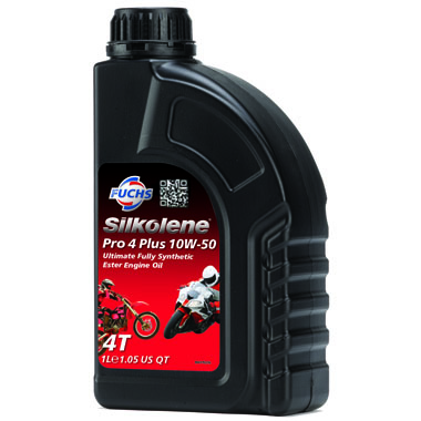 Silkolene Pro 4 Plus 10W 50 Motorcycle Engine Oil 1L