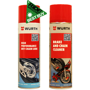Wurth Motorcycle Chain Lube and Cleaner Two Pack Special Offer