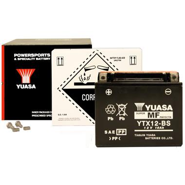 Yuasa YTX12 BS MF Motorcycle Battery
