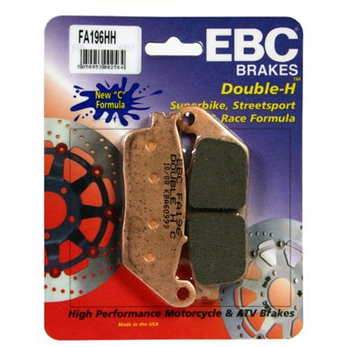 2 Pairs of EBC FA196 HH Front Brake Pads Triumph Tiger 955