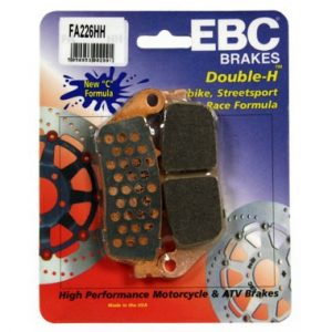 2 pairs EBC FA226 HH Front Brake Pads Triumph Street Triple 675