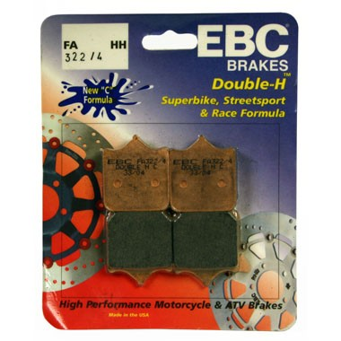 2 Sets of EBC FA322/4 HH Front Brake Pads Triumph Speed Triple 2008 on