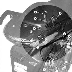 Givi PLX174KIT V35 Pannier Holder Bridging Kit Honda
