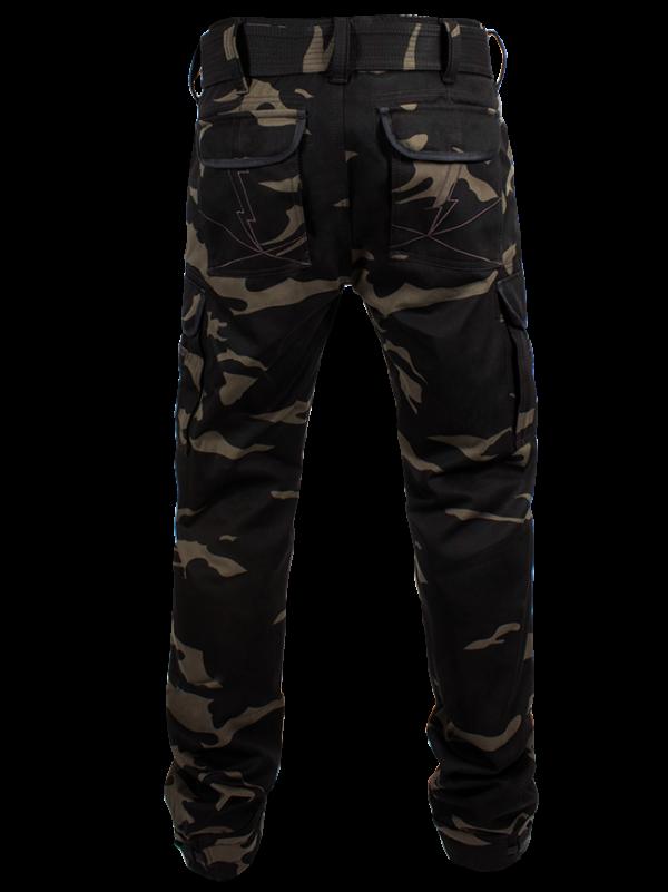 John Doe Kevlar Motorcycle Cargo Pants Camouflage Long Leg Rear View