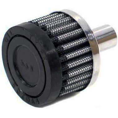 K&N 15mm Crankcase Vent Filter push in Rubber Top