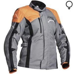 Jofama Voyage Lady Textile Motorcycle Jacket Grey Black Orange