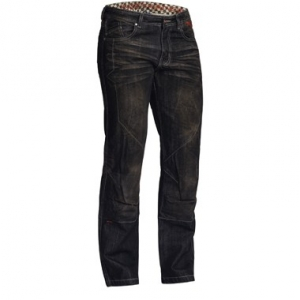 Lindstrands Blaze Pants Denim Motorcycle Jeans Black Short Leg