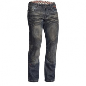 Lindstrands Blaze Pants Denim Motorcycle Jeans Dark Blue Short Leg