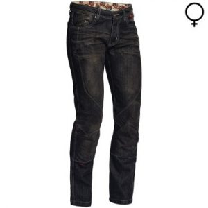 Lindstrands Blaze Lady Denim Motorcycle Jeans Black