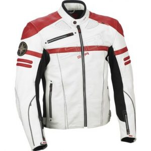 Lindstrands Cougar Leather Motorcycle Jacket White