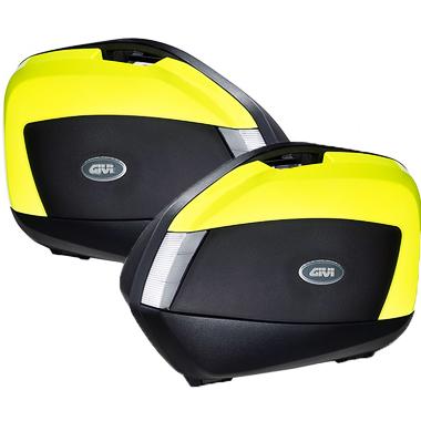 Givi V35NTFL Motorcycle Panniers Black Yellow