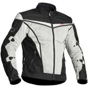Lindstrands Flux Textile Motorcycle Jacket Black White